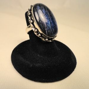 Jewelry - Big sparkling purple-blue Sun Sitara gemstone Ring